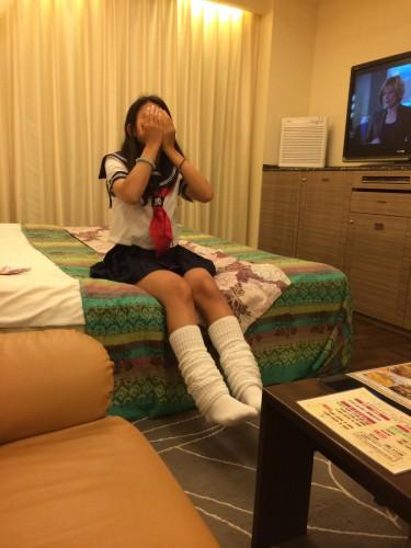 女子高生とのハメ撮り画像