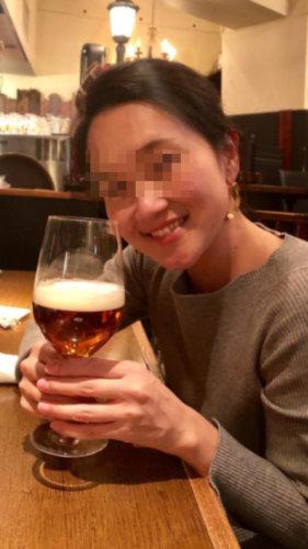 美熟女セフレとビールを飲んだときの画像
