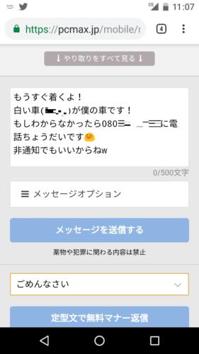 出会い系サイトで姫始めを募集してる女性への返信画像