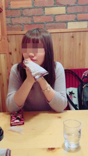 出会い系のキャッシュバッカー疑惑の女子大生と居酒屋に行った時の画像