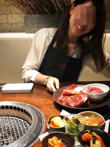 まほちゃんとの焼肉デート写真